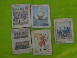 Lots De 5 Protege Cahier-1906-voyages De Gulliver-les Gloires Navales De La France-la France Liberatrice Des Peuples Etc - Other Collections