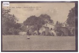 GENEVE - CARTIGNY - MAISON DE PHILIPPE MONNIER - B ( PLI D'ANGLE ) - GE Genève