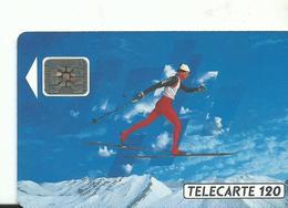 Telecarte Jeux Olympiques Course De Fond - Olympische Spelen