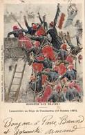 ALGÉRIE CONSTANTINE  Lamoricière Au Siège De Constantine  ...... Carte D'illustrateur - Constantine