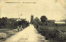 28 - COURBEHAYE / RUE PRINCIPALE ET L'EGLISE / A 464 - Autres Communes