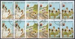 São Tomé E Principe 1988  MiNr. 1072/ 1074  (4x)  O/ Used;  125 Jahre Internationales Rotes Kreuz - São Tomé Und Príncipe