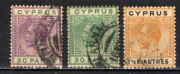 """CIPRO - 1921 - EFFIGIE DI RE GIORGIO V - FILIGRANA """"CA IN CORSIVO"""" - USATI - Cipro (...-1960)"""