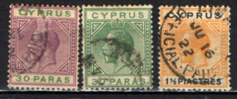 """CIPRO - 1921 - EFFIGIE DI RE GIORGIO V - FILIGRANA """"CA IN CORSIVO"""" - USATI - Chypre (...-1960)"""