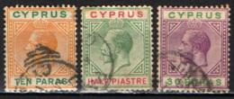 """CIPRO - 1912 - EFFIGIE DI RE GIORGIO V - FILIGRANA """"CA MULTIPLA"""" - USATI - Cipro (...-1960)"""