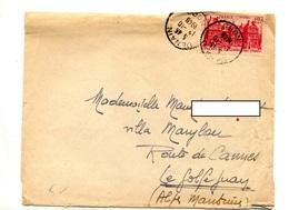 Lettre Cachet Denain Sur Luxembourg - Marcophilie (Lettres)