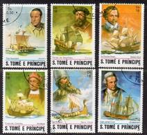 São Tomé E Principe 1982  MiNr. 786/ 791  O/ Used;  Seefahrer - Sao Tome Et Principe