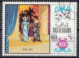 Ras Al Khaima 1969 Mi. 283 Musica Lirica Opera. Giuseppe Verdi - Aida CTO - Musica