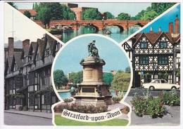 STRATFORD UPON AVON : The Bridge And River, The Shakespeare Hotel, Shakespearre Statue, The Garrick Inn - Stratford Upon Avon