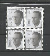 OCB 2520 ** Postfris Zonder Scharnier In Blok Van 4 - 1990-1993 Olyff