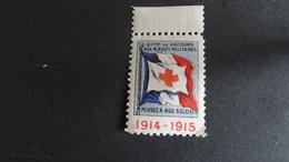Vignette Croix Rouge 1914-1915 Sté Fse De Secours Aux Blessés Militaires Pensez à Nos Blessés Neuf Voir Scan - Commemorative Labels
