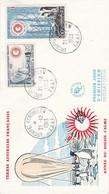 TAAF PREMIER JOUR 1963 N° 21 + PA7 Année Internationale Du Soleil Calme 21-12-1963 Kerguelen - FDC