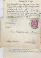 AK 0259  Brief Mit Inhalt An Frl. Mitzi Drathschmidt Von Bruckheim - Militär Akademie Wr. Neustadt 1897 - 1850-1918 Empire