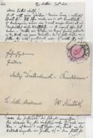 AK 0259  Brief Mit Inhalt An Frl. Mitzi Drathschmidt Von Bruckheim - Militär Akademie Wr. Neustadt 1897 - 1850-1918 Imperium