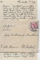 AK 0259  Brief Mit Inhalt An Frl. Mitzi Drathschmidt Von Bruckheim - Militär Akademie Wr. Neustadt 1898 - 1850-1918 Imperium