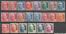 LOT MARIANNE DE GANDON NEUF* TRACE DE CHARNIERE / MH / COTE 19€ - 1945-54 Marianne Of Gandon