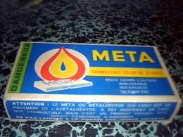 Publicitè Boîte Carton   Avec Son Contenu META ALLUME FEUX Combustible Solide De Sècuritè - Boxes