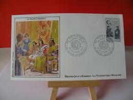 Le Traité D'Andelot - 52 Andelot Blancheville - 28.11.1987 FDC 1er Jour (Numismatique Française) Coté 2,20€ - 1980-1989