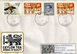 Belle Lettre Du Sri Lanka, Adressée Au Mexique, Avec Timbre à Date Arrivée - Sri Lanka (Ceylan) (1948-...)