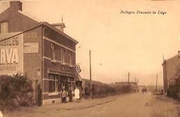 Hollogne - Chaussée De Liège (animée, Café Restaurant Pompe à Essence... Publicité Automobiles Minerva ?) - Grâce-Hollogne