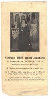 VENERABLE SOEUR MARIE BERNARD BERNADETTE SOUBIROUS : IMAGE PIEUSE HOLY CARD SANTINI PRENTJE - Imágenes Religiosas