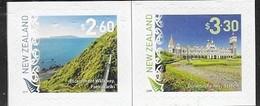 NEW ZEALAND, 2019, MNH,SCENIC DEFINITIVES, MOUNTAINS, DUNEDIN RAILWAY STATION, TRAINS, 2v S/A - Trains