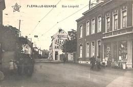 Flémalle Grande - Rue Léopold (animée, Arrivée Du Tram, Boutique, Edit L Beckers 1914) - Flémalle