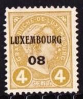 Luxembourg 1908 Prifix Nr. 54 - Luxemburgo