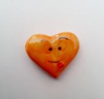 Fève Coeur Orange - Charms