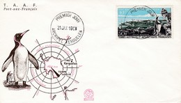 TAAF PREMIER JOUR 1968 N° PA14 Port-aux-Français 21-01-1968 - FDC