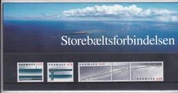Denmark, SM 29, Souvenir Folder, Bridge, 1997        Postal Value 18,50 Kr - Dinamarca