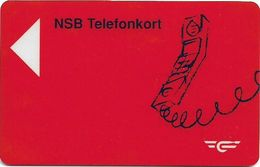 Norway - Norwegian Railroad (Magnetic) - NSB-8 - Telephone Horizontal, 1992, 20Kr, 65.053ex, Used - Norvège