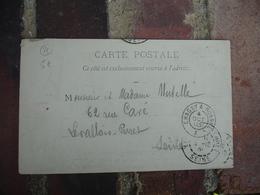 1903 Chagny A Roanne Cachet Ambulant Convoyeur Poste Ferroviaire Sur Lettre - Postmark Collection (Covers)