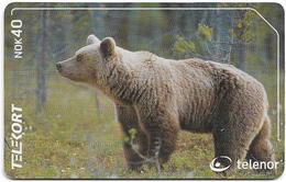 Norway - Telenor - Animals - Bear - N-199 - 02.2001, 3.000ex, Used - Noorwegen