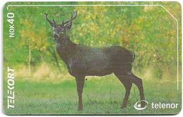 Norway - Telenor - Animals - Deer - N-201 - 02.2001, 3.000ex, Used - Norway