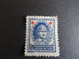Vignette Croix Rouge 1914-1918 Sté Française De Secours Aux Blessés Militaires - Commemorative Labels