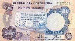 Nigeria 50 Kobo, P-14g (1973) - UNC - Sign.7 - Nigeria