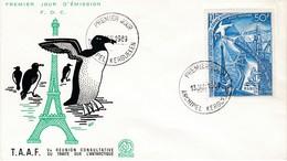 TAAF PREMIER JOUR 1969 N° PA18 5eme Réunion Consultative Du Traité International De L'Antarctique 13-01-1969 Kerguelen - FDC