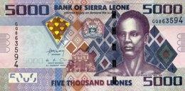 Sierra Leone 5.000 Leones, P-32b (4.8.2013) - UNC - Sierra Leone