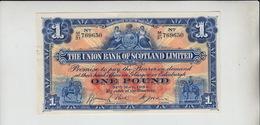 AB195. The Union Bank Of Scotland Ltd £1 Note 31st May 1938 #M/31 769650 FREE UK P+P - [ 3] Scotland