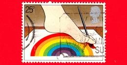 INGHILTERRA - GB - GRAN BRETAGNA - 1981 - Anno Internazionale Dei Disabili - Disabile Dipinge Con I Piedi - 25 - 1952-.... (Elisabetta II)