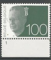 OCB 2481 ** Postfris Zonder Scharnier Met Plaatnummer 1 - 1981-1990 Velghe