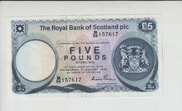 AB311. The Royal Bank Of Scotland Plc £5 Banknote 3rd January 1985. #B/56 157617 FREE UK P+P - [ 3] Scotland