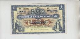 AB251. The Royal Bank Of Scotland £1 Banknote 1st February 1952 #V/I 171354  FREE UK P+P - [ 3] Scotland