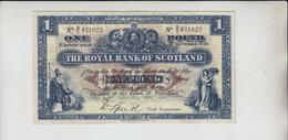 AB249. The Royal Bank Of Scotland £1 Banknote 1st September 1939 #D/I 431623   FREE UK P+P - [ 3] Scotland