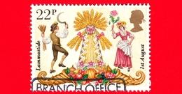 INGHILTERRA - GB - GRAN BRETAGNA - Usato - 1981 - Folclore - Agricoltura  - Grano - Lammastide - 22 - 1952-.... (Elisabetta II)