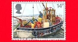 INGHILTERRA - GB - GRAN BRETAGNA - Usato - 1981 - Industria Della Pesca - Cockle-dredging - 14 - 1952-.... (Elisabetta II)