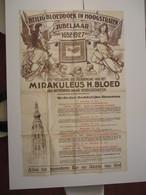 VP AFFICHE 89cm X 138cm (V1912) JUBELJAAR HOOGSTRATEN 1927 ( 5 Vues) Mirakuleus H. Bloed Van Antwerpen Naar Hoogstraten - Posters