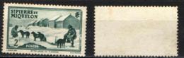 ST. PIERRE & MIQUELON - 1938 - DOG TEAM - SENZA GOMMA - St.Pierre & Miquelon