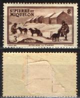 ST. PIERRE & MIQUELON - 1938 - DOG TEAM - MH - St.Pierre & Miquelon